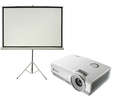 3200 Lumen Data Projector and Screen